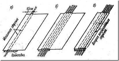 Виды отделки изделия. Рельефная (шнуровая) строчка
