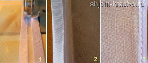косая бейка на тонкой ткани