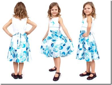 платье с узором детское