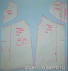 готовая выкройка платья на кокетке для девочки