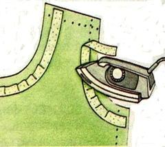 Приклеиваем укрепляющую полоску из прокладочного материала