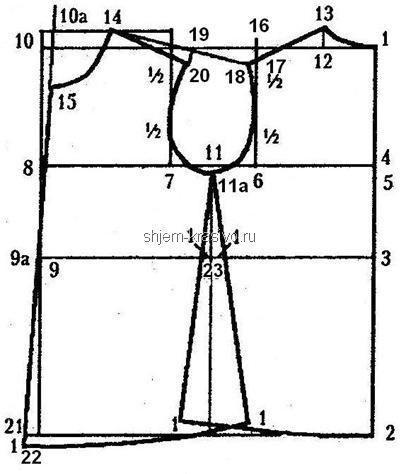 Построение спины платья