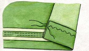 Подшивание низа двойной иглой