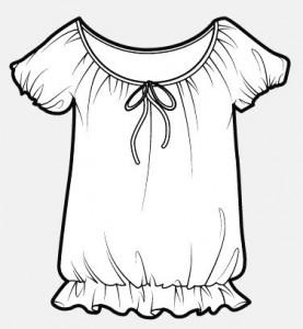 белая блуза в крестьянском стиле
