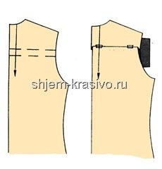 Изменение выкройки при очень прямой спине