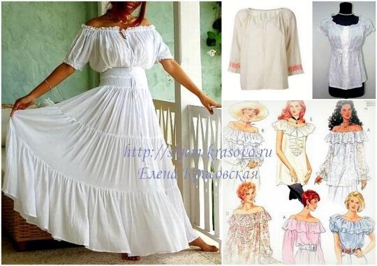 блуза в крестьянском стиле