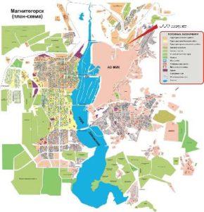 карта друзей - мой город Магнитогорск