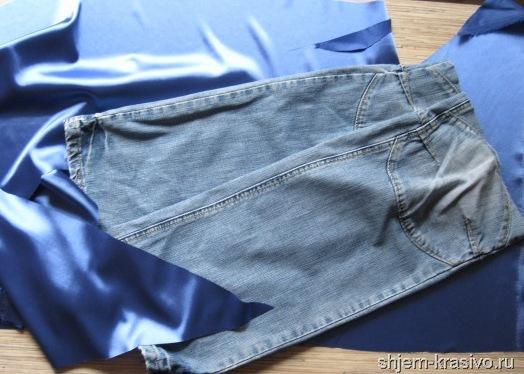 Какие брюки сшить из джинсовой ткани 44