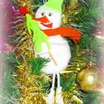 Снеговик на ёлочку
