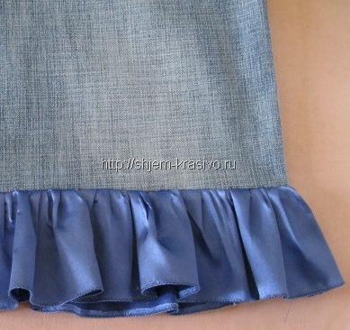 Как обработать волан на платье