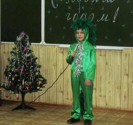 Участники конкурса новогодних костюмов