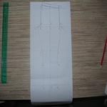Построение чертежа конструкции леггинсов