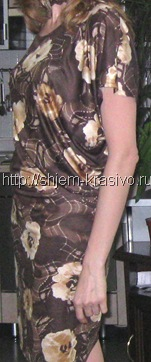 """трикотажное платье """"перекошенного"""" кроя"""