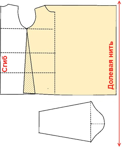 Кардиган-трансформер - подробности шитья и раскроя