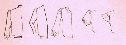Построение рукава