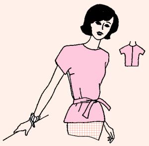 Куклы.  Платьев.  Выкройка платья и сарафана для беременной.  Брюк.  Для получения ссылки на полную версию...