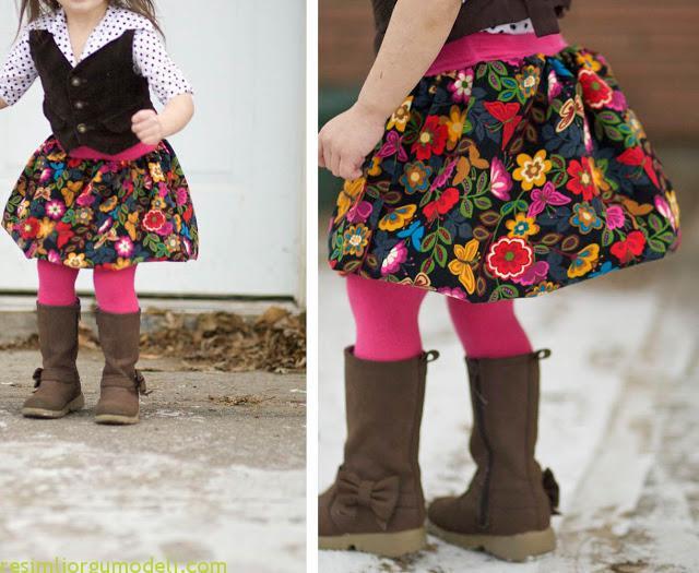Как из детских колгот сделать юбку.