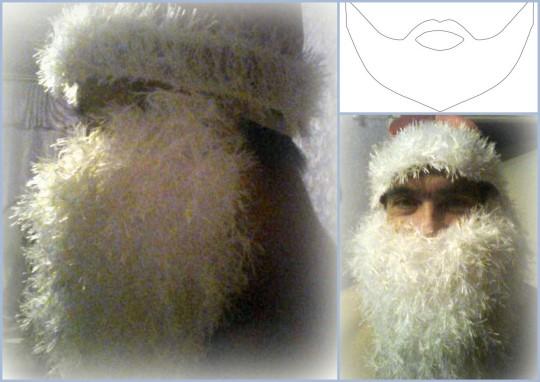 Как сделать своими руками бороду для деда мороза 4