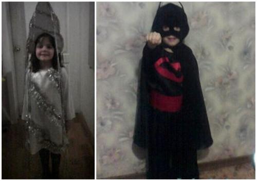 Костюмы Сосулька и Бетмен