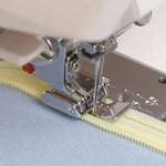 как втачать застежку молнию в шов со смещением от сгиба ткани