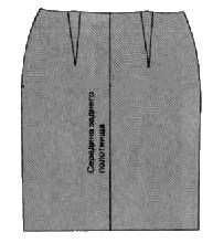 Способ корректировки выкройки юбки/платья при разновысоких бедрах