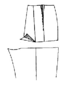 Корректировка выкройки брюк - широкий обхват ноги у бедра, плоские и выпуклые ягодицы