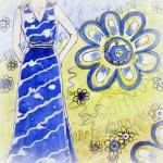 Моделирование и пошив платья - сарафана из купонной ткани