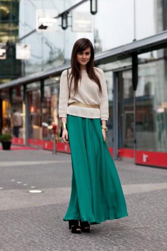 длинные юбки и обувь: