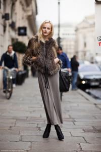 С чем носить длинную юбку осенью и зимой
