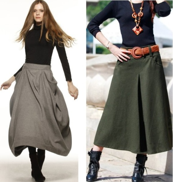 4db33818364 ... С чем носить длинную юбку осенью и зимой