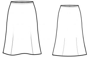 юбка трикотажная технический рисунок