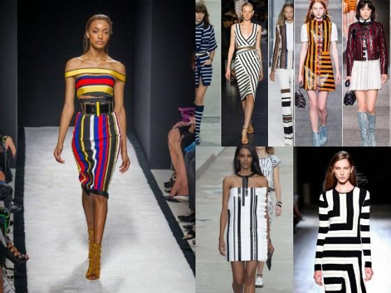 Модные юбки в полоску 2017