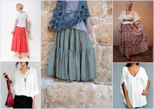 С чем носить ярусные юбки