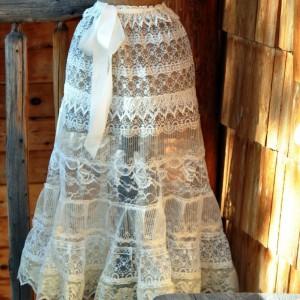 Красивая многоярусная юбка
