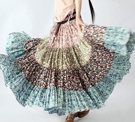 Многоярусная юбка бохо своими руками