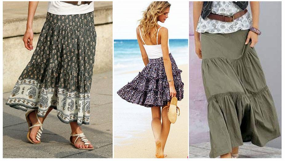 Короткие летние юбки своими руками