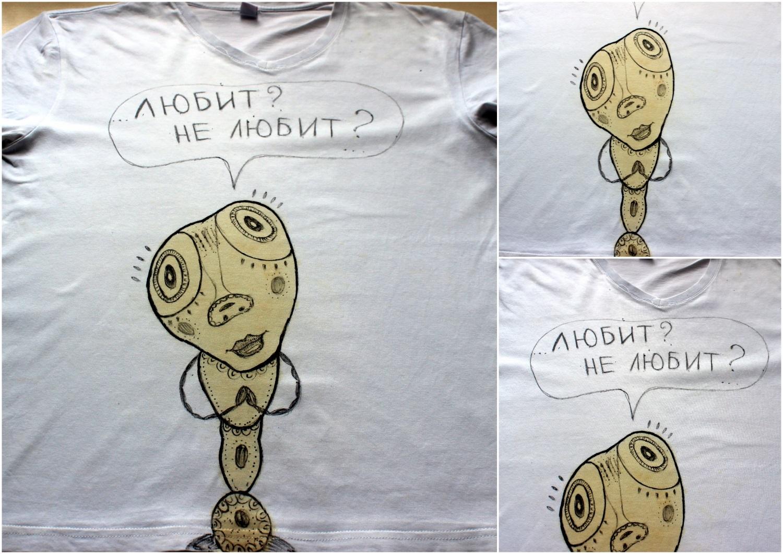 """Как быстро """"спасти""""/украсить футболку"""