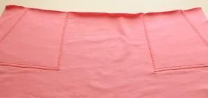 Как сшить простую трикотажную юбку на резинке, с карманами