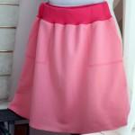 Как сшить трикотажную юбку на резинке, с карманами
