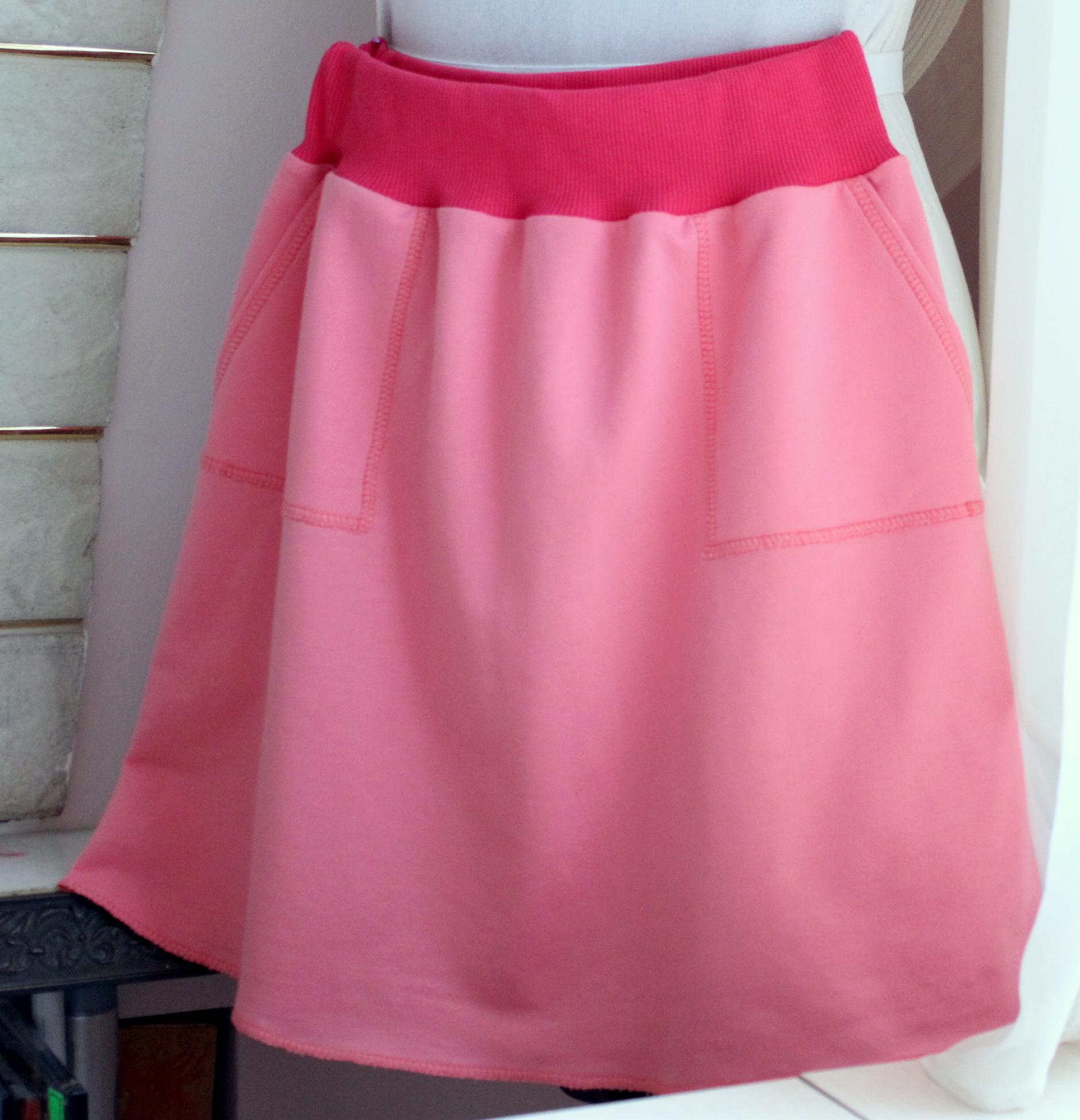 6ec4c06b55e Как сшить простую трикотажную юбку на резинке
