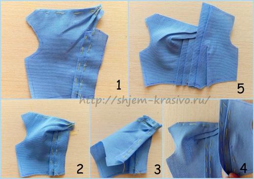 Ответ на вопрос. Моделируем платье с ассиметричной горловиной и драпировками по лифу