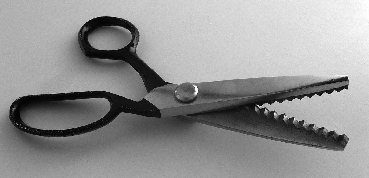 Ножницы зигзаг для ткани тиси купить в розницу