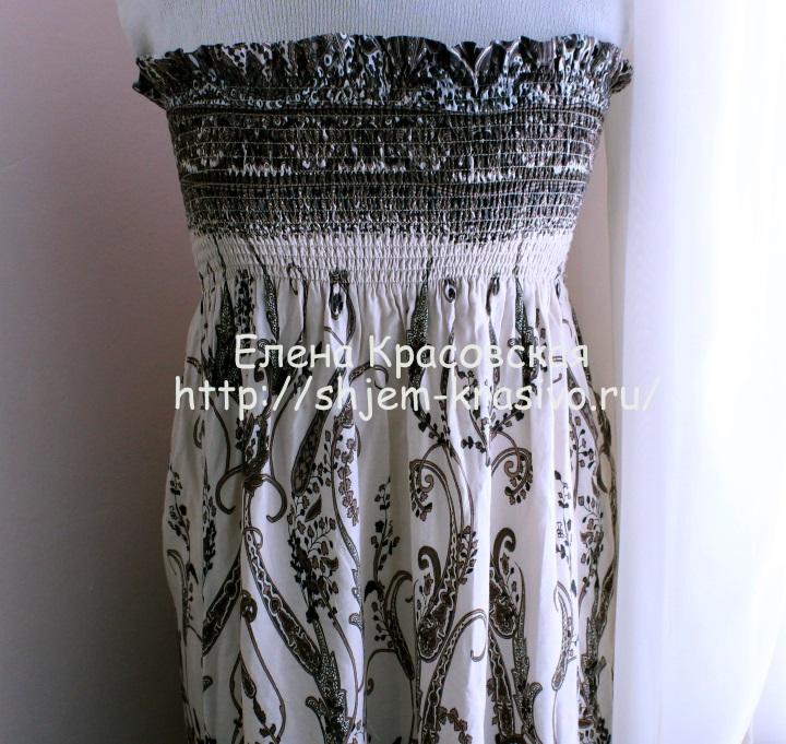 Как сшить юбку в сборку на эластичную нитку- резинку