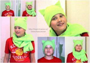 """Как сшить детскую шапку с """"ушками"""". Шьём зверошапку"""