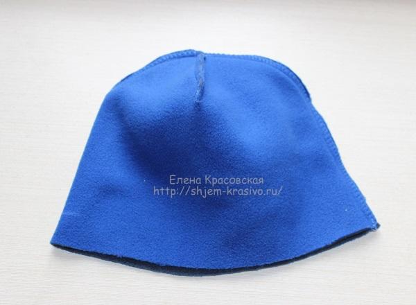 Как сшить шапку из двустороннего флиса с отворотом. Шьём зверошапку