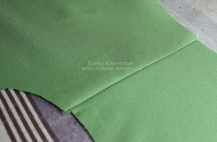 Обработка плечевых и боковых швов в изделии